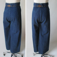 70's vintage high waist wide leg levis jeans back