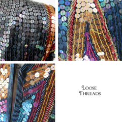 Vintage 70s Jack Bryan Saks Fifth Avenue Sequined Evening Jacket L