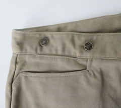 Men's Classic Old West Buckle Back Tan Trousers Pants 48 - Bombshell Bettys Vintage
