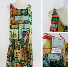 Vintage 60's Disneyland Re-Release Limited Edition Enchanted Tiki Room Hostess Dress L / XL - Bombshell Bettys Vintage
