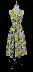 vintage 40's 50's Surfriders shell print Hawaiian dress gallery