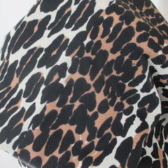 Vintage 60s Evening Leopard Lounging Duster / Robe