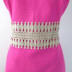 Lilly Pulitzer Magenta & Gold Ashlyn Shift Dress 12 L • NWT