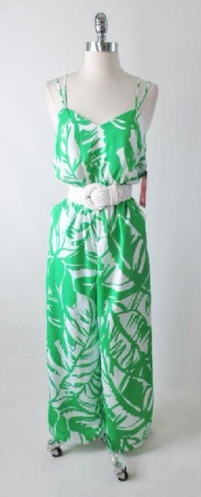 Lilly Pulitzer Target Green Palm Jumpsuit S - Bombshell Bettys Vintage