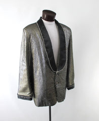 Men's Gold Lame Special Occasion Jacket M 46