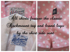 Pink Gingham Original 50's Style Rockmount Ranchwear Western Shirt Top Blouse L - Bombshell Bettys Vintage