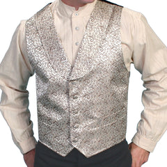 Mens Scully Champagne Scroll Old West Steampunk Vest 2XL