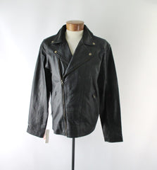 Scully Black Leather Conceal Carry Motorcycle Jacket 3XL - Bombshell Bettys Vintage
