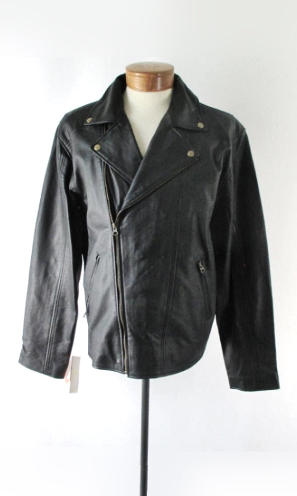 Scully Black Leather Conceal Carry Motorcycle Jacket 3XL