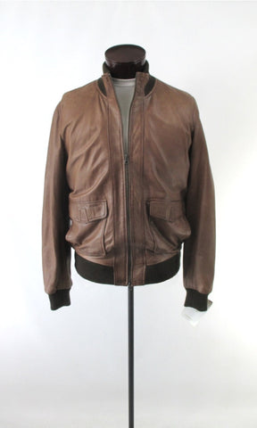 Men's Scully Washed Leather Bomber Jacket L