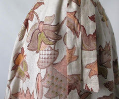Vintage 60's autumn leaves tapestry canvas A-Line shift dress bombshell bettys vintage print
