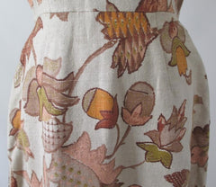 Vintage 60's autumn leaves tapestry canvas A-Line shift dress bombshell bettys vintage print 2