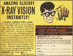 Original X Ray Specs Optical Illusion / Gag Gift - Bombshell Bettys Vintage