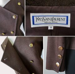 Yves Saint Laurent vintage 80's jacket blazer close up