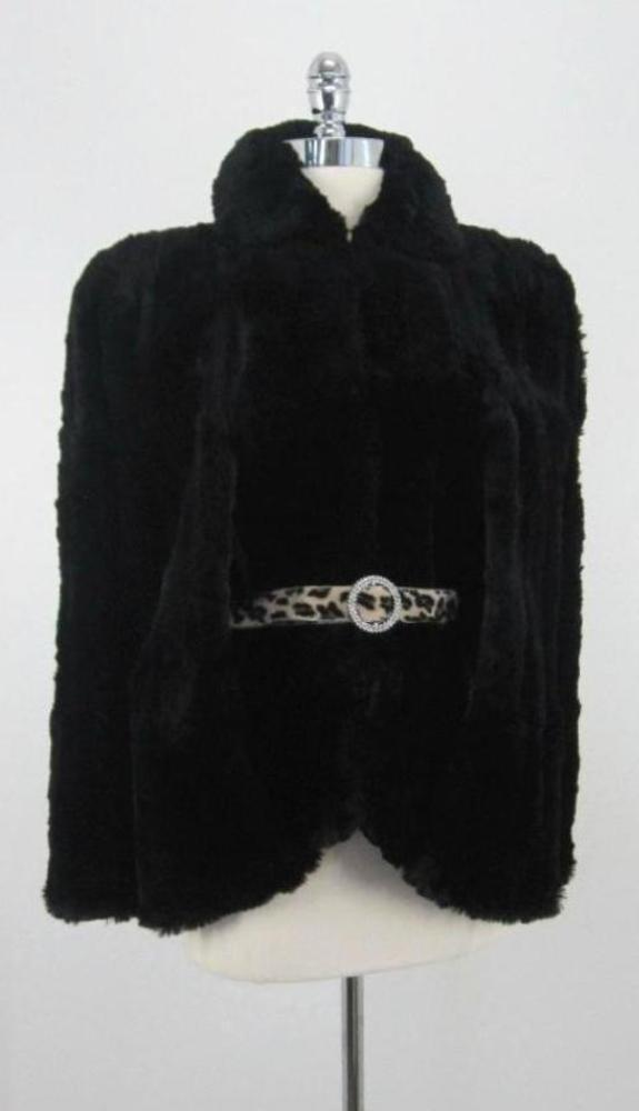 Vintage 40's WWII Film Noir Black Hudson Fur Cape Coat Jacket M -  XL - Bombshell Bettys Vintage
