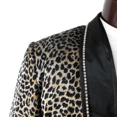 Men's Leopard Special Occasion Jacket L 48