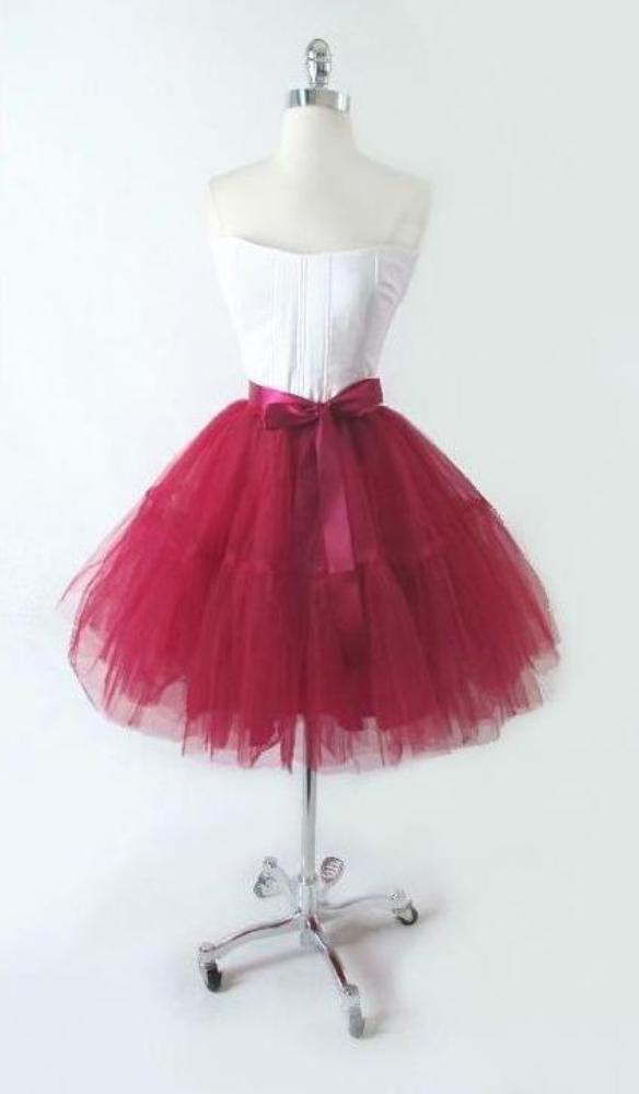 Vintage 50's Look Full Sheer TuTu Skirt Tulle Party Dress • One Size - Bombshell Bettys Vintage