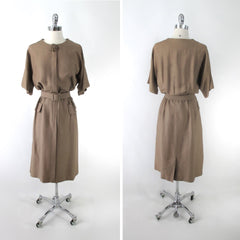 Vintage 50s Copper Layne Bryant Special Occasion Dress Plus 2X