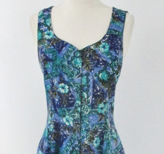 Vintage 90s Grunge Flower Lattice Back Romper Playsuit S
