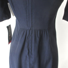 Vintage 80s Navy Puff Sleeve Mini Party Dress NWT / NOS S