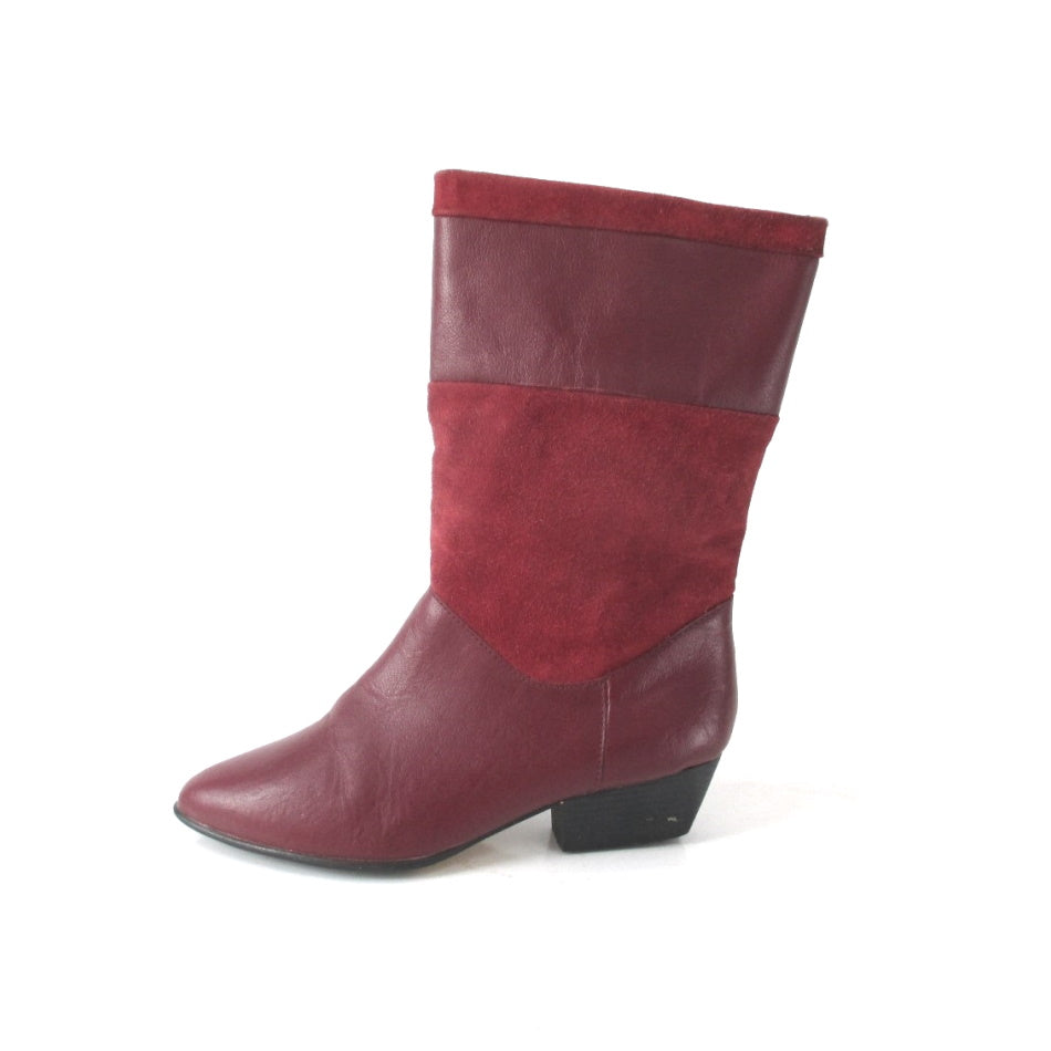 Vintage 80s Red Leather Tarantino's Pixie Boots 8