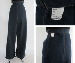 vintage 50's high waisted pinup bombshell denim jeans new details 2