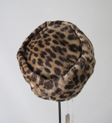 Vintage 50's 60's Leopard Pillbox Hat & Matching Handbag Clutch Purse Set New / Old Stock - Bombshell Bettys Vintage