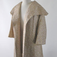 Vintage 50's Lilli Diamond Gold Brocade Evening Jacket Coat M - Bombshell Bettys Vintage