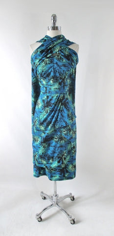 50s Vintage Style Custom Hawaiian Sarong Dress M