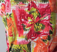 Vintage 60's Floral House Of Hawaii Sarong Dress S