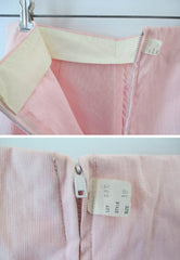 Vintage 60's 50's High Waist Pink Stripe Crop Pants New Old Stock L - Bombshell Bettys Vintage