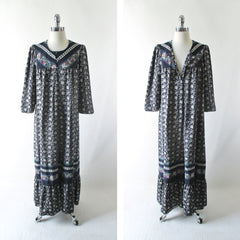 Vintage 70's Hawaiian Kaftan / Caftan Rayon Tunic Dress - Bombshell Bettys Vintage