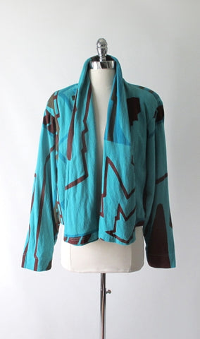 Vintage 80's Michele Lamy Cropped Origami Swing Jacket