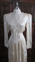 vintage 80's silk gunne sax victorian wedding tea dress bodice