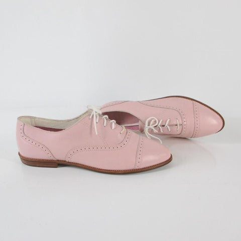 Vintage 80's Pink Lace Up Oxford Shoes 9.5