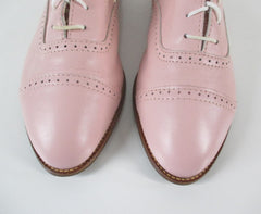 Vintage 80's Pink Lace Up Oxford Shoes 9.5 - Bombshell Bettys Vintage