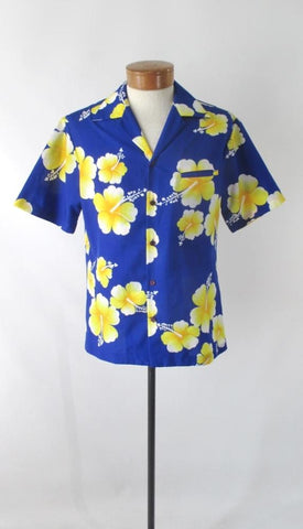 Mens Vintage 80s Hilo Hattie Hawaiian Shirt M