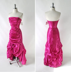 Vintage 90s Jessica McClintock Gunne Sax Pink Party Dress Gown NWT S - Bombshell Bettys Vintage