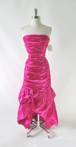 • Vintage 90s Jessica McClintock Gunne Sax Pink Party Dress Gown NWT S