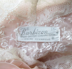 Vintage 40's Barbizon Elfin Peach & Lace Bed Jacket M / L - Bombshell Bettys Vintage