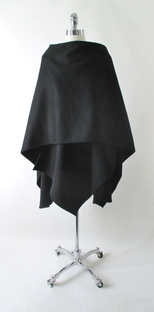 Vintage Cache Black Wool Wrap Cape One Size - Bombshell Bettys Vintage