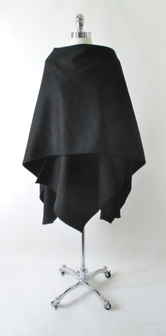Vintage Cache Black Wool Wrap Cape One Size