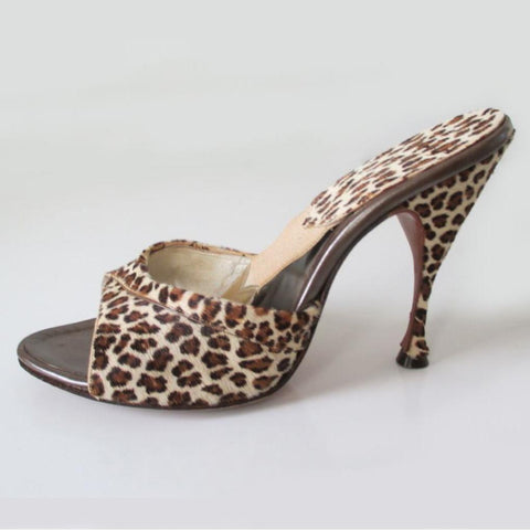 Vintage 50's 60's Fredericks OF Hollywood Ultra High Leopard Springolators 7
