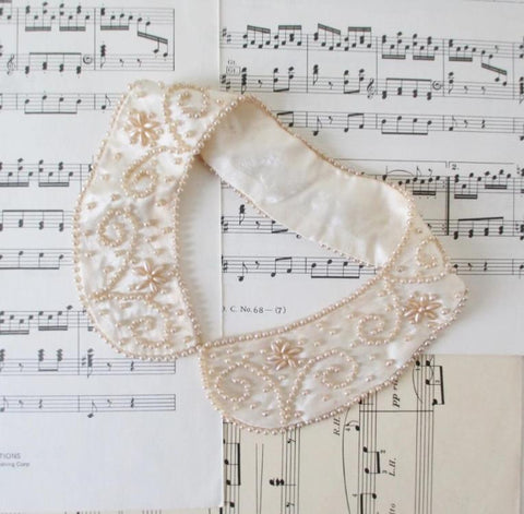 Vintage Pearl Beaded Collar Choker