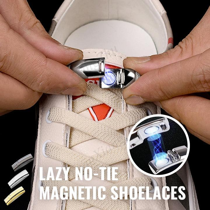 Lazy No-Tie Magnetic Shoelaces