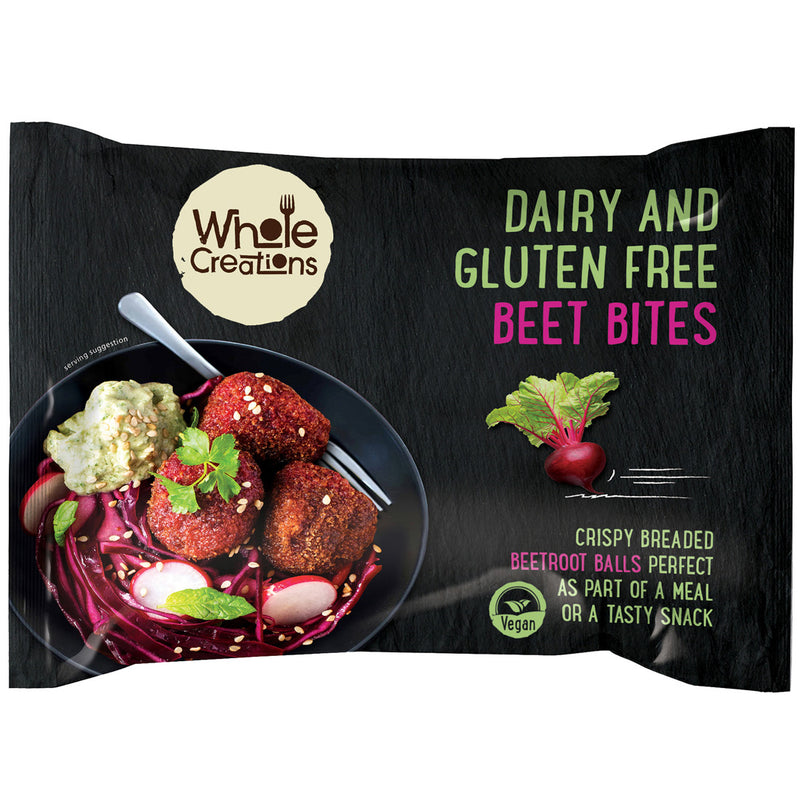 Buy Vegan Food Online | UK Delivery, Dairy Gluten Free Beetroot Ball Bites, Crispy Breaded, perfect as part of a meal or a tasty snack