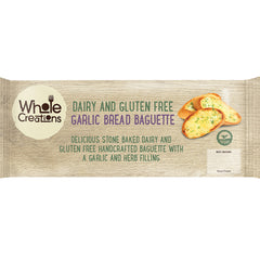 Buy Vegan Food Online | UK Delivery, Dairy Gluten Free Garlic Bread Baguette. Delicious stonebaked handcrafted, garlic and herb filling.