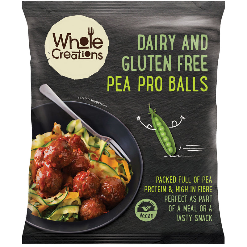 Buy Vegan Food Online | UK Delivery, Dairy Gluten Free Pea Protein Ball bites, high in fibre, perfect as part of a meal or a tasty snack