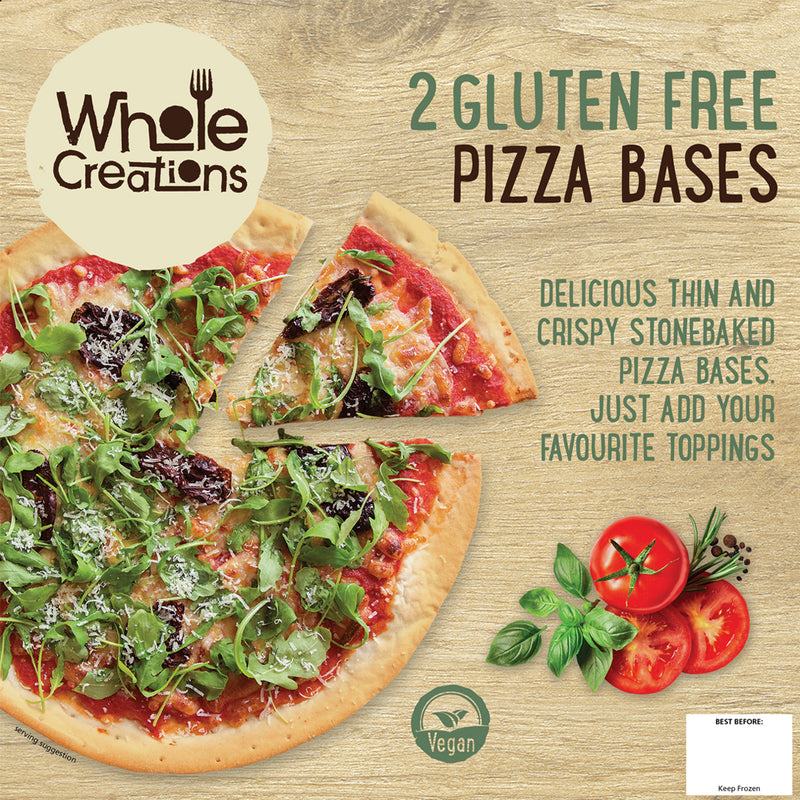 Buy Vegan Food Online | UK Delivery, Thin & Crispy Stonebaked Gluten Free Pizza Base. Just add your favourite toppings.