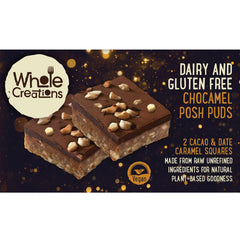 Buy Vegan Food Online | UK Delivery, Dairy Gluten Free posh pudding desserts chocolate & caramel, cacao, dates, made from raw unrefined ingredients, natural plant based goodness